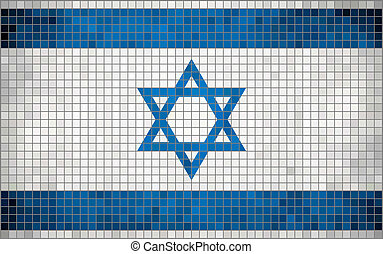Flag of Israel - Abstract Mosaic flag of Israel The National...