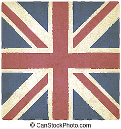 Union Jack old background - vector illustration eps 10