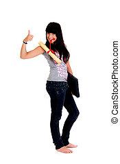 Teenager schoolgirl