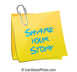 share your story post illustration design over a white...