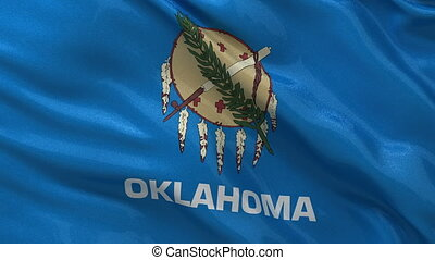 US state flag of Oklahoma loop - US state flag of Oklahoma...