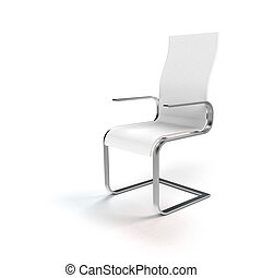 white chair on white - FICTITIOUS modern white cantilever...