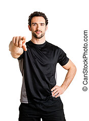 I Want You - Personal trainer pointing at viewer, isolated...