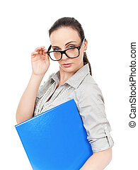 business woman with glasses - An image of a business woman...