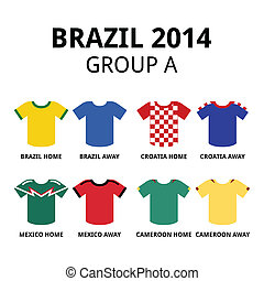 World Cup Brazil 2014 - group A - Soccer jerseys set for...