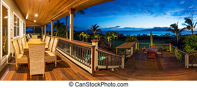 Deck with Sunset View - Beautiful Home Exterior Patio Deck...