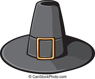 black pilgrim hat