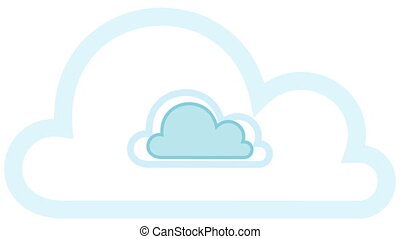 Pulsing Cloud Computing Cloud Conce - Animation of a cloud...