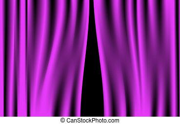 Luxury creases purple curtain - Luxury creases purple...