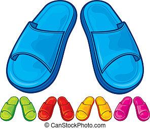 flip flops set - slippers - flip flops set, slippers