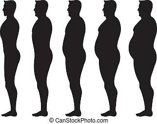 graisse, homme
