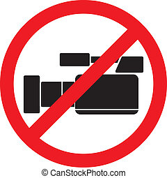 do not record video sign, no video allowed sign, do not...