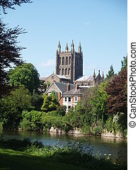Cathedral City - Hereford Cathedral across the river wye
