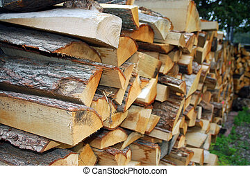 Woodpile to be used for fuel