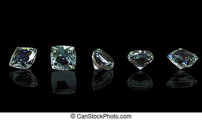 Diamond shape - Diamond heart shape isolated on a white...