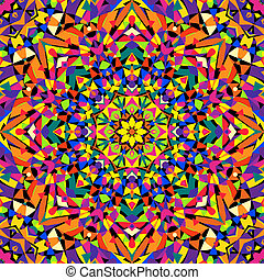 seamless kaleidoscope pattern - vector illustration. eps 8