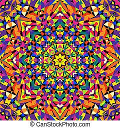 seamless kaleidoscope pattern - vector illustration. eps 8