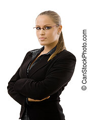 Young businesswoman - Young businesswomen posing arms...