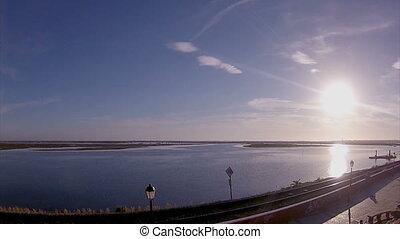 Algarve - Sunset Timelapse - Faro - Timelapse landscape view...