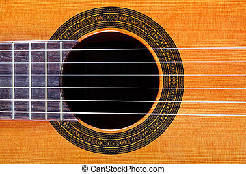 sound hole with rosette inlay of guitar - sound hole with...