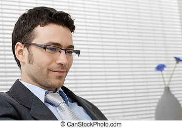 Portrait of businessman - Closeup portrait of businessman...