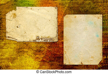 Grunge abstract paper background with old photo and...