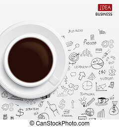 coffee cup and business strategy
