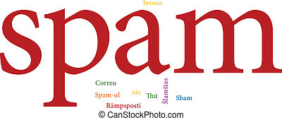 spam in word clouds - illustration of the word spam in word...