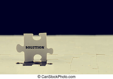 Last puzzle piece with the word - Solution