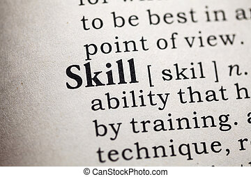 skill - Fake Dictionary, Dictionary definition of the word...