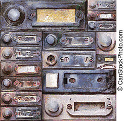 old doorbells - Painting of the various old doorbells -...