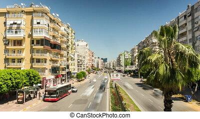 4K. City traffic at 100. Yil Bulvari on April 23, 2013 in...