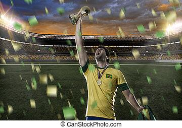 Brasileiro, futebol, jogador