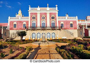 Estoi Palace in Estoi, Portugal - Estoi - JANUARY 28: Estoi...