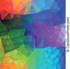 Polygonal abstract with bright colors - Polygonal abstract...