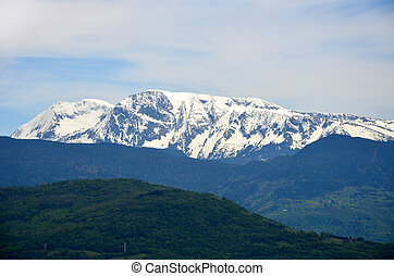 View of the Alps-Europe mountain in Grenoble, France.