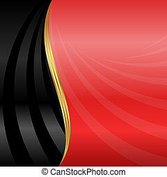 abstract background - red and black background with golden...