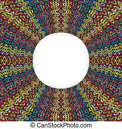 Colored round frame made of dots with place for text