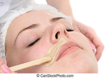 bigote, depilación