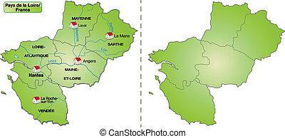 Map of Pays de la Loire