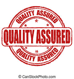 Quality assured stamp - Quality assured grunge rubber stamp...