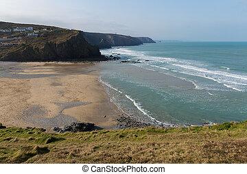Porthtowan beachSt Agnes Cornwall - Porthtowan beach near St...