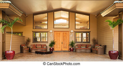 Entrance to Luxury Home - Front Door Entrance to Luxury Home