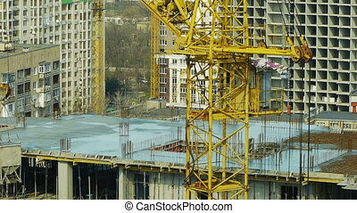 Pouring concrete into a newly built house - ODESSA - MARCH...