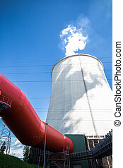 cooling tower - a thermal power station the part of his...