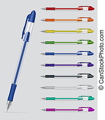Set of gel pens