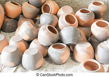 The antique pottery