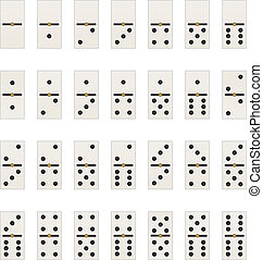 domino tabs - illustration with set all the dominoes