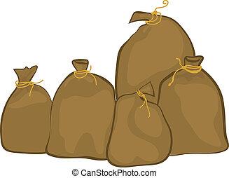 Group of sacks
