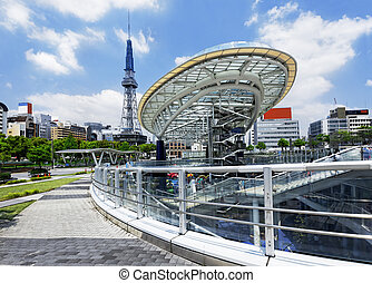 Nagoya, Japan city skyline with Nagoya Tower. - Nagoya...